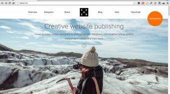koken plateforme web pour photographes site internet
