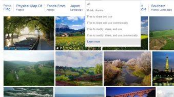 bing recherche images droits utilisation