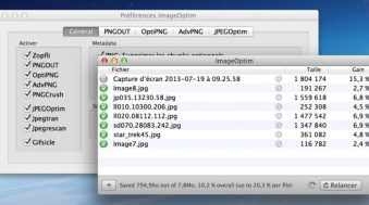 ImageOptim compression fichiers images png