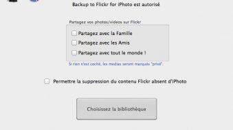 Comment sauvegarder sa bibliothèque iPhoto sur Flickr
