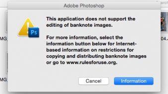 billet de banque photoshop
